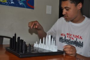 Side view of Chess Set