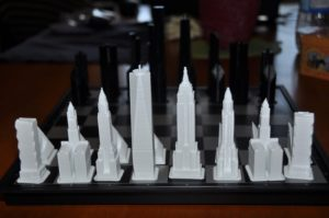 Details of the 3D Printed New York City pieces