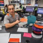 John Mangicaro Presenting 3D Printed Graphs